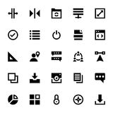 Web Design and Development Vector Icons 7 Royalty Free Stock Image