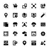 Web Design and Development Vector Icons 1 Royalty Free Stock Images