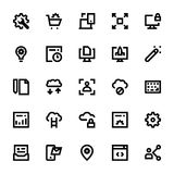 Web Design and Development Vector Icons 1 Royalty Free Stock Photography