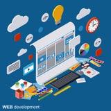 Web design, development, website construction, graphic design vector concept Stock Photos