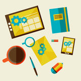 Web design development workflow Stock Images