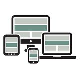 Web Design on Devices Stock Images
