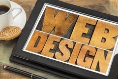 Web design on a digital tablet Royalty Free Stock Photos