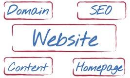 Web Design Domain Seo Words Concept vector illustration