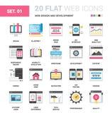 Web design e sviluppo Immagini Stock