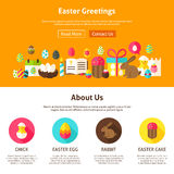 Web Design Easter Greeting Royalty Free Stock Photography