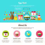 Web Design Egg Hunt Royalty Free Stock Photography
