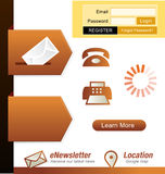 Web design element. Website design elements template and icons Royalty Free Stock Photos