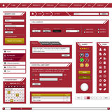 Web Design Element Template Frame Red Stock Photography