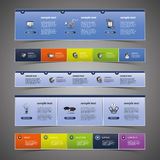 Web Design Elements. Colorful website design templates  - illustration in freely scalable and editable vector format Royalty Free Stock Photo