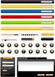 Web design elements Stock Photos