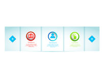 Web design elements. Whith icons set Stock Image
