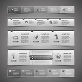 Web Design Elements. Black & White Design Elements for Modern Business or IT Websites - Illustration in Freely Scalable & Editable Vector Format Royalty Free Stock Image
