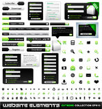 Web design elements extreme collection. Frames, bars, 101 icons, bannes, login forms, buttons royalty free illustration