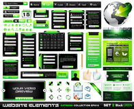 Web design elements extreme collection BlackGreen Stock Image