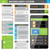 Web Design Elements. For flat web design Royalty Free Stock Photography