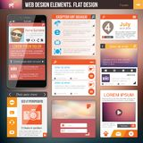 Web design elements. Flat Web Design elements. Templates for website or applications Stock Image