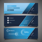 Web Design Elements - Header Designs. Blue Header or Banner Template Designs in Freely Scalable & Editable Vector Format Royalty Free Stock Image