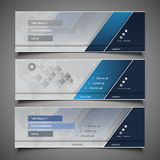 Web Design Elements - Header Designs Stock Image