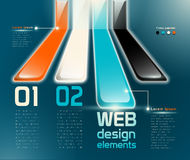 Web design elements. With numbered choices and sample text, named and structured layers EPS 10, transparency Stock Photography
