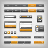 Web design elements with reflection. Login, search, 3 option Stock Image