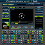 Web design elements set 2 Royalty Free Stock Photography