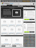 Web design elements set. Online shop 1. Vector illustration Stock Photo