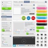 Web design elements set online shop Stock Photo