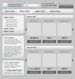 Web design elements set. Online shop Royalty Free Stock Images