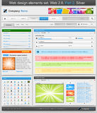Web design elements set. Part 2. Vector illustration Royalty Free Stock Image