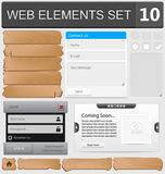 Web design elements set. Vector illustration Royalty Free Stock Image