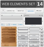 Web design elements set. Vector illustration Stock Photos