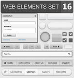 Web design elements set Stock Photos