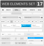 Web design elements set. Vector illustration Royalty Free Stock Images
