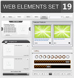 Web design elements set. Vector illustration Royalty Free Stock Photo