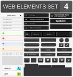 Web design elements set. Vector illustration Royalty Free Stock Photography