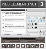 Web design elements set Royalty Free Stock Photo