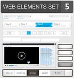 Web design elements set Royalty Free Stock Photos
