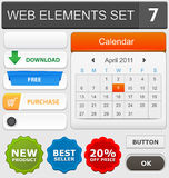 Web design elements set. Vector illustration Stock Image