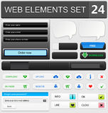 Web design elements set. Vector illustration Stock Images