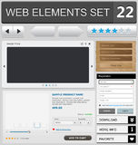 Web design elements set. Vector illustration Royalty Free Stock Photos