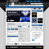 Web Design Elements Template. A web design template with all important web elements Stock Photo