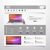 Web Design elements. Templates for website. Stock Photography