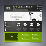 Web Design elements. Templates for website. Stock Image