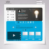 Web Design elements. Templates for website. Royalty Free Stock Photography