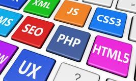 Web design et concept de développement de site Web Photographie stock