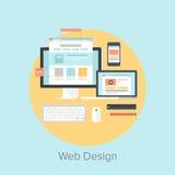 Web design et développement Photographie stock libre de droits