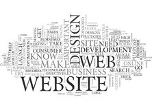 Web Design Extreme Makeoverword Cloud Royalty Free Stock Image