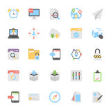 Web Design Flat Colored Icons 6. This Web Design Flat Vector Icons Pack is useful for web designers, graphic designers, web design templates, blogs of any kind Royalty Free Stock Photo