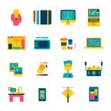 Web Design Flat Icons Set Royalty Free Stock Photos